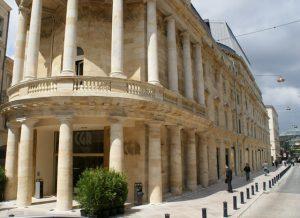 Classical ancient building CGR cinema bordeaux france