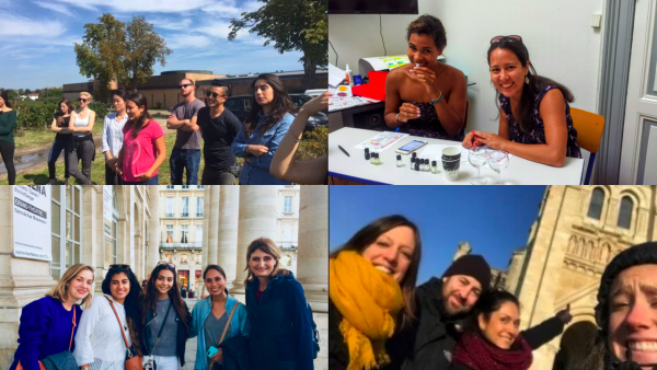 Groups of student in our french cultural activities program visiting bordeaux