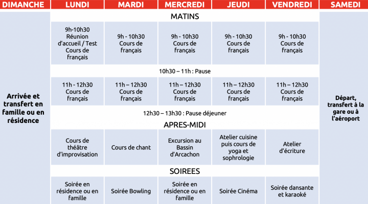 French summer camp for juniors in Bordeaux