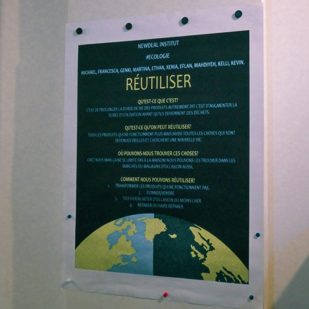 Affiche Newdeal Institut réutiliser 1