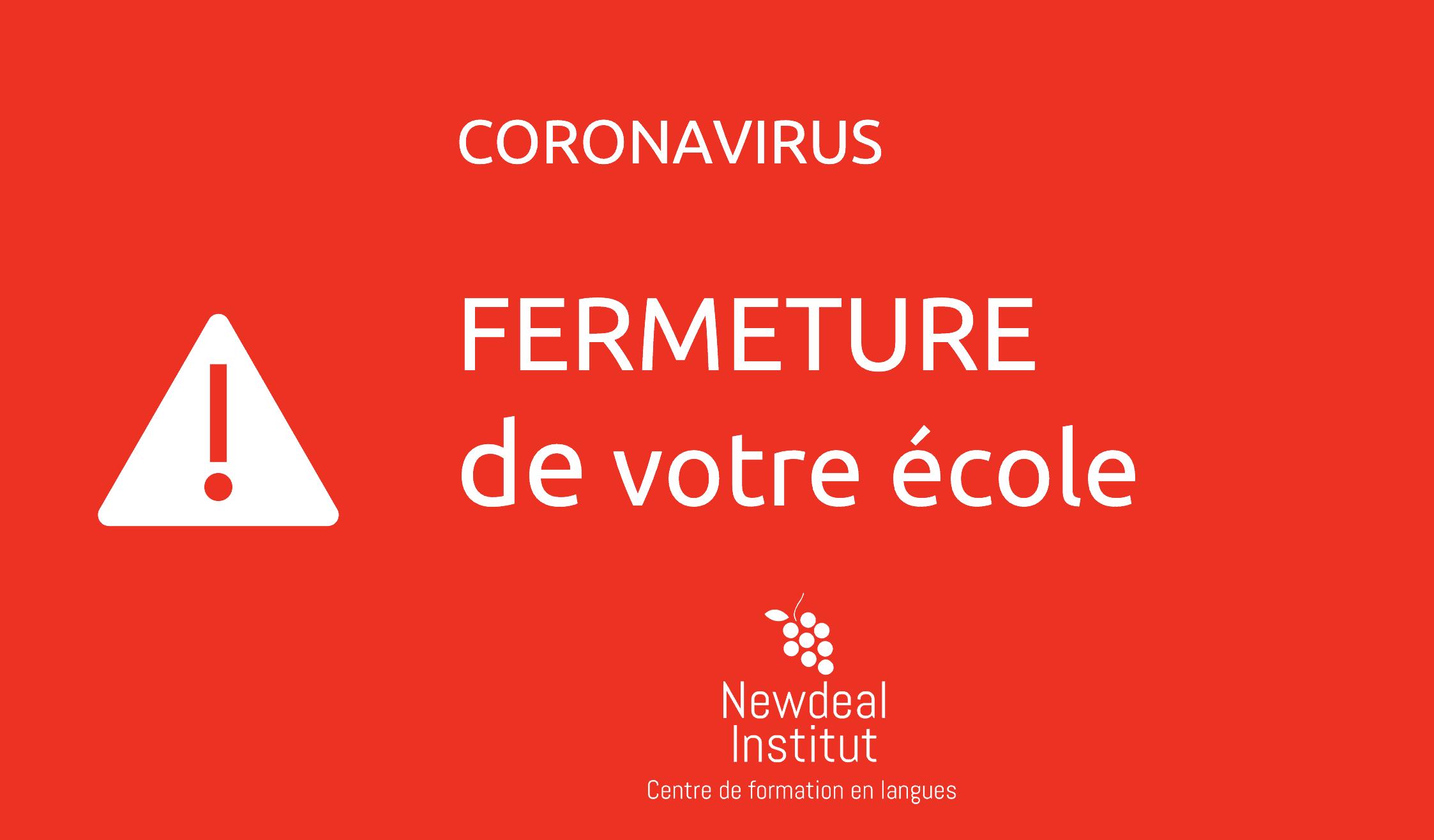 fermeture ecole de français bordeaux coronavirus